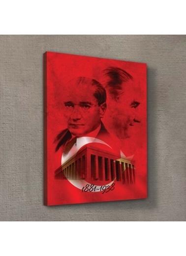 Artikel Atatürk-35 Kanvas Tablo 50X70 cm, Ev Ofis Duvar Dekorasyonu Renkli